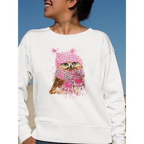 Cute Winter Owl . Sweatshirt Women's -Image by Shutterstock