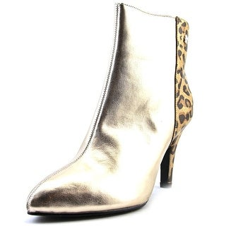 Bellini Cassandra Women Pointed Toe Synthetic Gold Ankle Boot