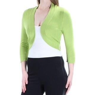Womens Green Bolero Jacket Size 6