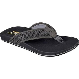 Skechers Men's Relaxed Fit Pelem Emiro Flip-Flop Gray
