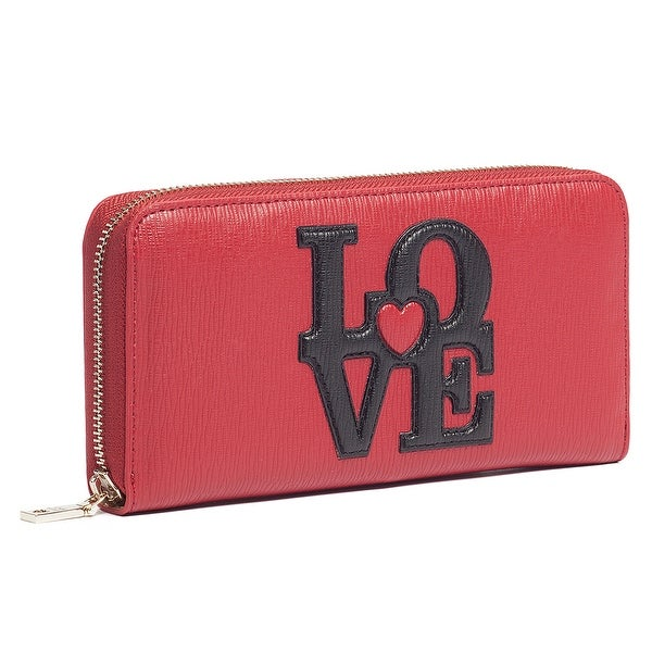 Moschino JC5521 0500 Red Zip Around Wallet - 7.5-4-1.2