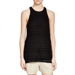 Vince Womens Tank Top Lace Sleeves - 8