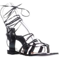 Enzo Angiolini Myani Gladiator Sandals, Black - 6 us