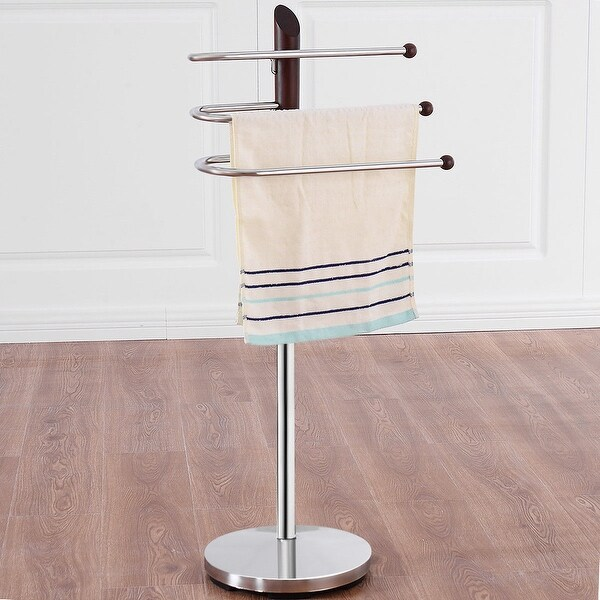 Shop Costway 3 Tiers Free Standing Floor Towel Holder Hanger