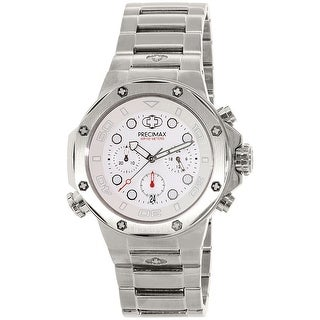 Precimax Men's Guardian Pro PX14003 Silver Stainless-Steel Plated Dress Watch