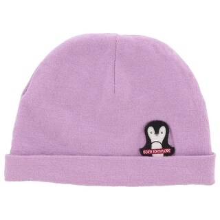 The North Face Baby Girls Friendly Faces Penguin Beanie Purple XS - Purple/black