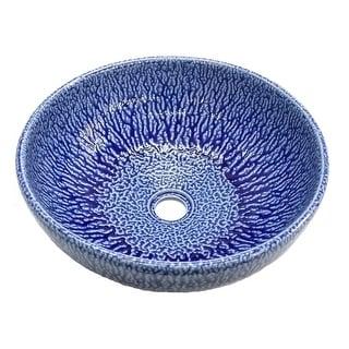 Eden Bath Blue Streams Ceramic Vessel Sink