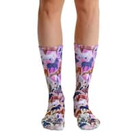 Living Royal Photo Print Crew Socks: Horse Heaven - Multi