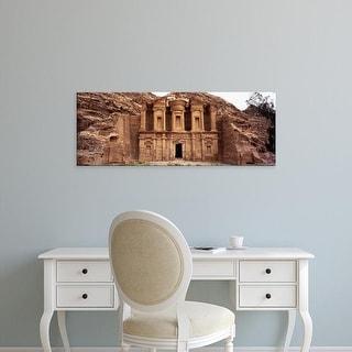 Easy Art Prints Panoramic Images's 'Facade of a monastery, Ed Deir, Petra, Jordan' Premium Canvas Art