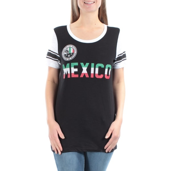 7dddd7a5b01d Shop $90 FREEZE New Womens 1072 Black Mexico Crew Neck Short Sleeve T-Shirt  Top M B+B - Free Shipping On Orders Over $45 - Overstock - 21301533
