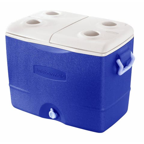 Rubbermaid FG2A9200PMTL Durachill 50 Quart Capacity Portable Ice Chest - - Blue