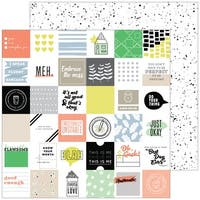 "A Case Of The Blahs Double-Sided Cardstock 12""X12""-Messy"