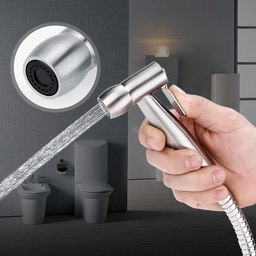Bathroom Shower Head Stainless Steel Hand Held Toilet Head Spray Water Bide R5W0