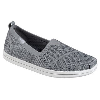 BOBS from Skechers Women's Super Plush-Long Stretch Flat, Gray Charcoal