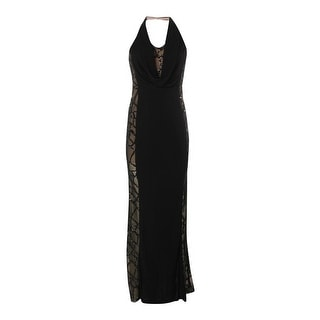 ABS by Allen Schwartz Womens Evening Dress Lace Sequined - s