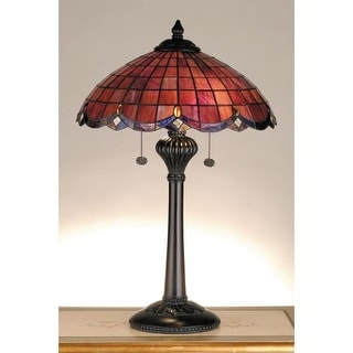 Meyda Tiffany 78123 Stained Glass / Tiffany Table Lamp from the Elan Collection