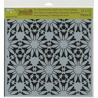 """Crafter's Workshop Template 12""""X12""""-Tuscan Floral"""