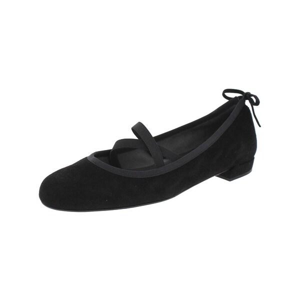80d482eec22a Shop Stuart Weitzman Womens Bolshoi Ballet Flats Solid Round Toe ...