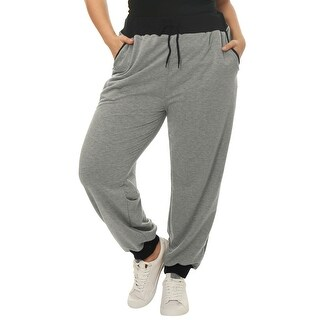 Allegra K Women's Plus Size Jogger Pants