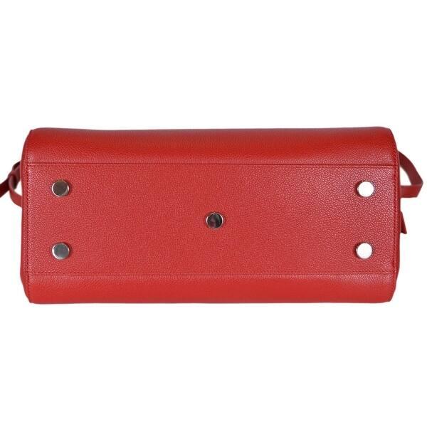 ... Saint Laurent YSL 400413 Small Red Leather Cabas Rive Gauche Purse  Handbag ... e9c47a0130f63