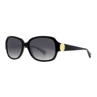 COACH Square HC 8015(L019 Allie) Women's 5002/T3 Black Polarized Gray Gradient Sunglasses - 58mm-17mm-135mm