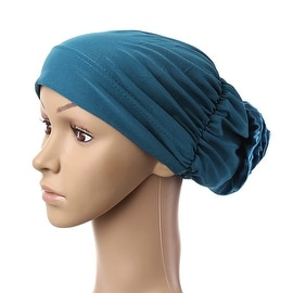 Muslim Scarf Kerchief Hat Flower Casual peacock