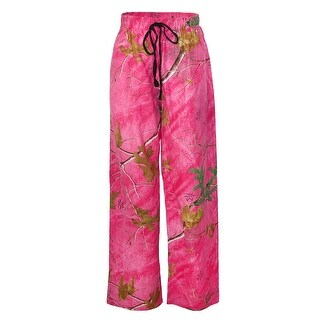 Boxercraft Women's Realtree Camouflage Flannel Pajama Pants - Pink