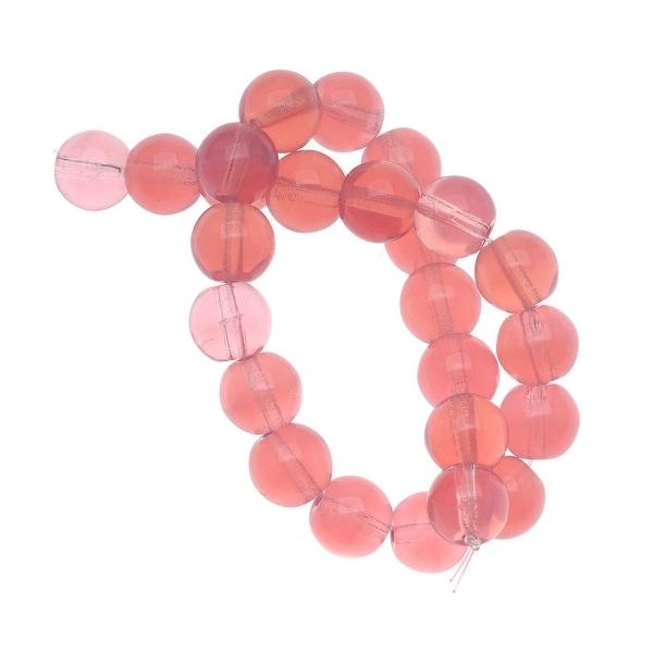 Czech Glass Druk Round Beads 8mm Pink Opal (25)