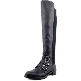 Vince Camuto Jayce Women  Round Toe Leather Black Over the Knee Boot