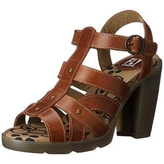 FLY London Womens Maye Heels Leather Dress - 38 medium (b,m)