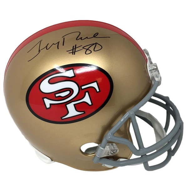 c9ed61a3e Jerry Rice Signed San Francisco 49ers Full Size Throwback Replica Helmet  JSA ITP