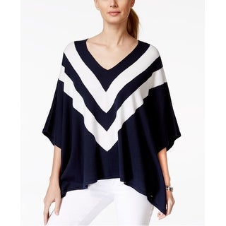 Tommy Hilfiger Striped Poncho Sweater - M