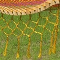 Sunnydaze Thick Cord Mayan Hammock with Curved Spreader Bars - Thumbnail 13