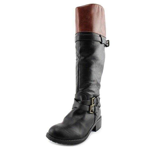 Rampage Ram-Britney Women Blk/Cognac Boots