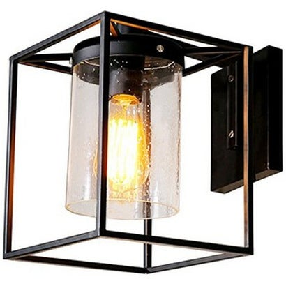 Metal Industrial Glass Wall Sconce Wall Lamp Light