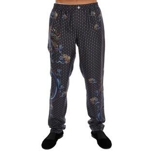 Dolce & Gabbana Dolce & Gabbana Gray Dragon Print SILK Pajama Pants