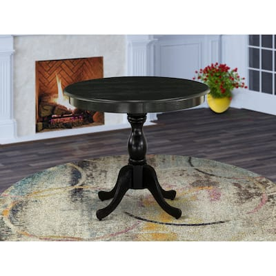 East West Furniture Round Small Dining Table