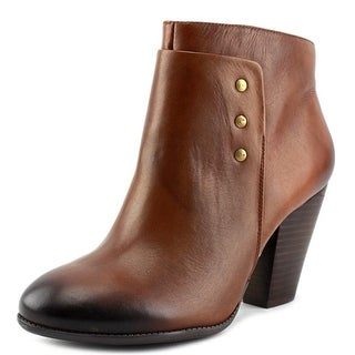 Sole Society Erlina Women Round Toe Leather Brown Ankle Boot
