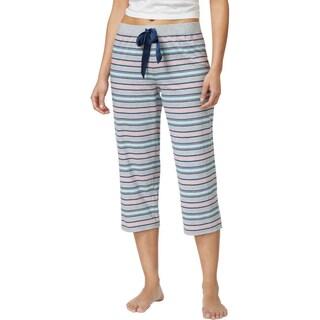 Jenni by Jennifer Moore Womens Pajama Bottoms Striped Cropped - XS