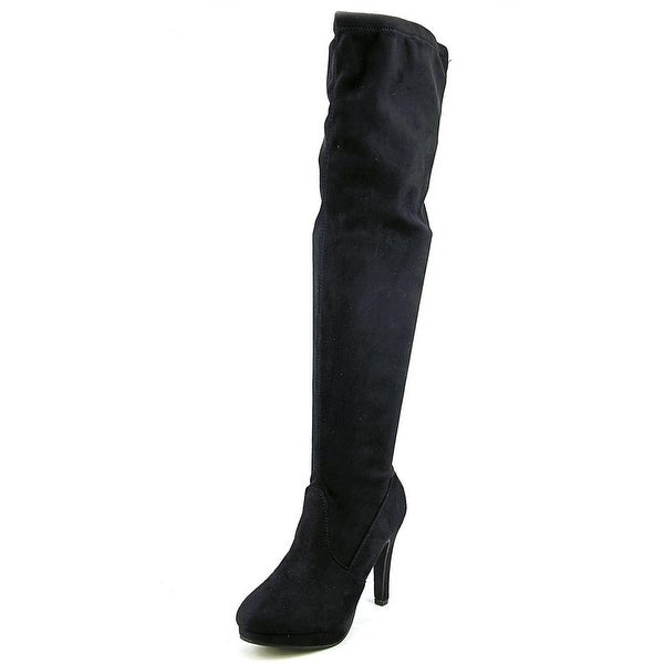 Report Nadya Round Toe Synthetic Over the Knee Boot