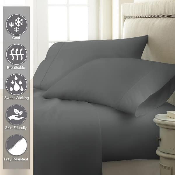 LUXURIOUS BEDDING SET ALL USA SIZE LIGHT GREY SOLID COTTON 800-TC 15 INCH DEEP