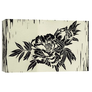 """PTM Images 9-103700  PTM Canvas Collection 8"""" x 10"""" - """"Natural Linocut B"""" Giclee Flowers Art Print on Canvas"""
