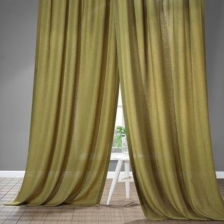 Exclusive Fabrics Faux Linen Semi Sheer Curtain