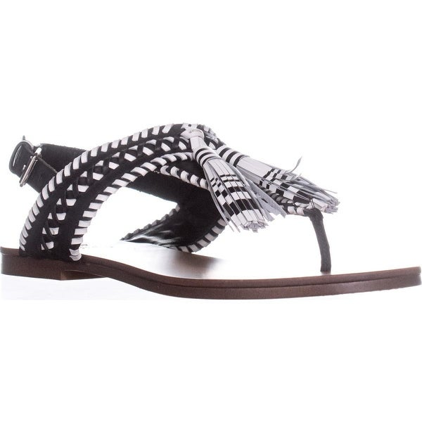 Vince Camuto Rebeka Flat Sandals, Black/Picket Fence