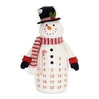 Set of 2 Red and White Snowman Countdown Plush Stuffed Figures 24.5""