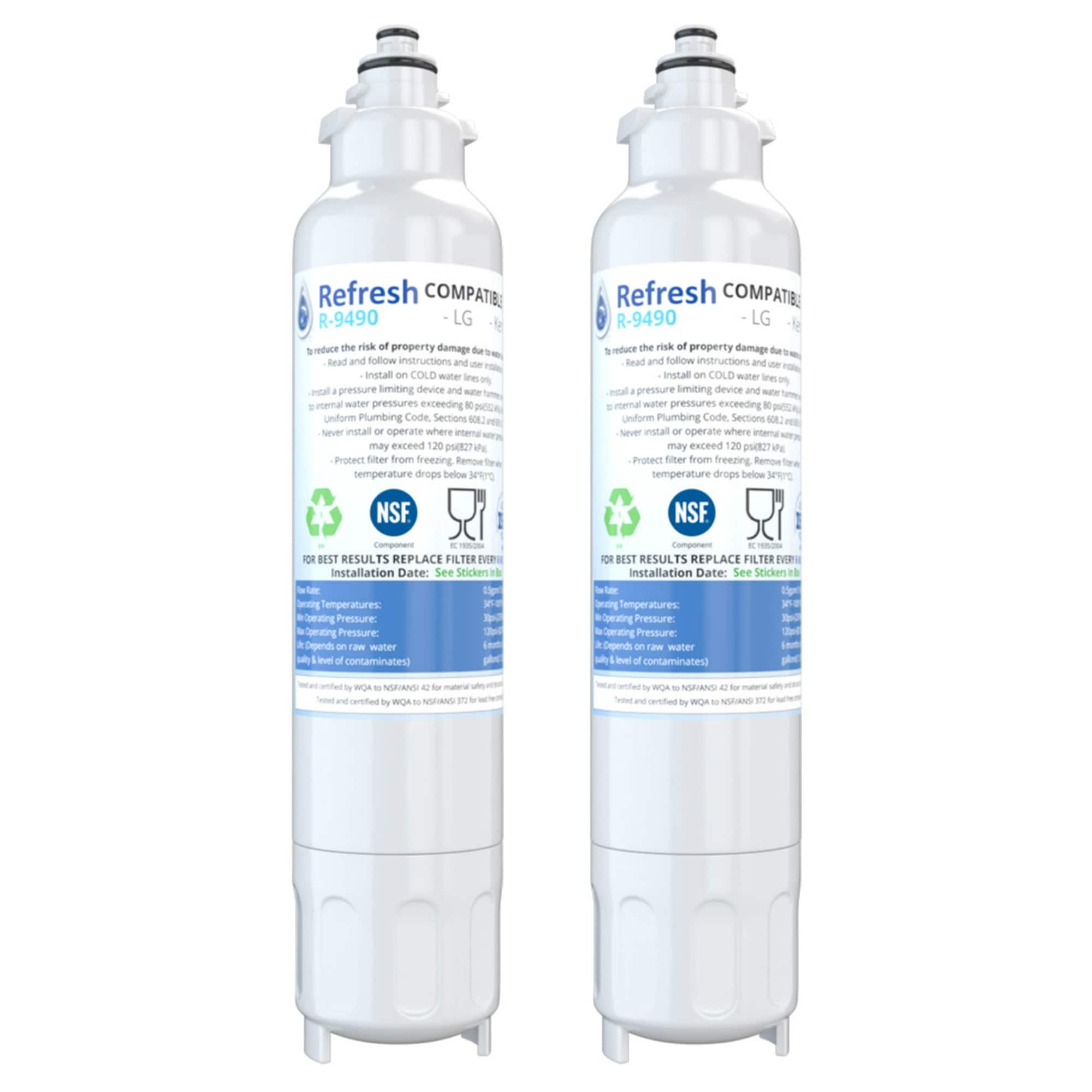 Replacement Water Filter For LG LMXC23746S 2-Pack