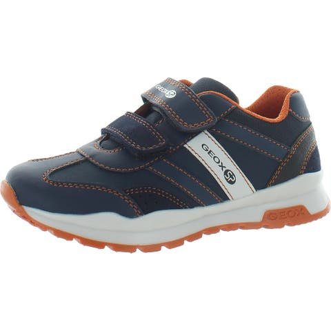 Geox Boys Coridan Sneakers Faux Leather Sport - Navy - 11 Medium (D) Little Kid