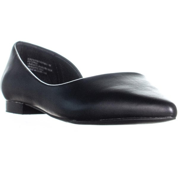 9fa8c09ad1b Shop Steve Madden Audriana-L Pointed Toe Ballet Flats, Black - Free ...
