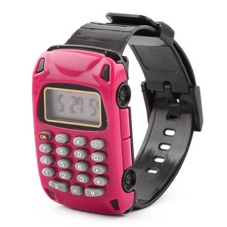School Detachable Wristband Watch Car Design 8 Digit Electronic Calculator Pink