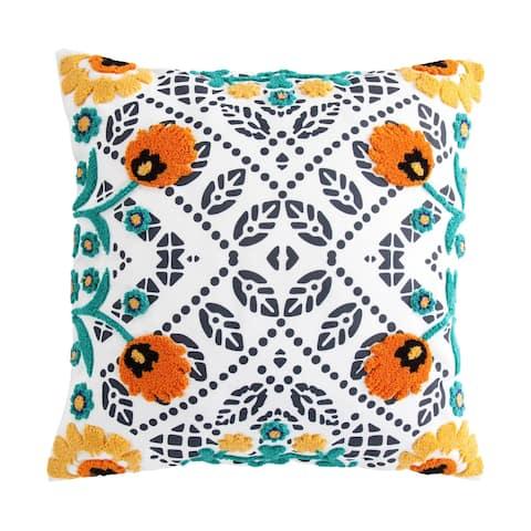 HiEnd Accents Bonita Outdoor Pillow, 20x20